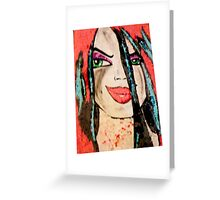 Fire Girl Greeting Card