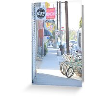 Bicycles-Lunch-Cocktails-R-America-One Way-Don't Turn-Bus Stop-Lotto/Losers Greeting Card