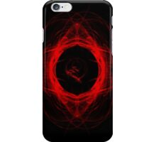 Red Abstract Circle iPhone Case/Skin