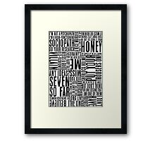 BBC Sherlock Holmes Quotes - Black Version Framed Print