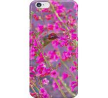 Peeking Through the Pink Penstemons iPhone Case/Skin