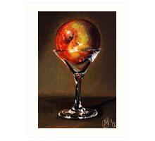 Apple Martini 2 Art Print