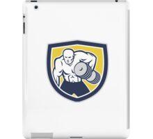 Strongman Lifting Dumbbells Front Shield Retro iPad Case/Skin