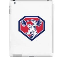 Weightlifter Lifting Barbell Shield Retro iPad Case/Skin
