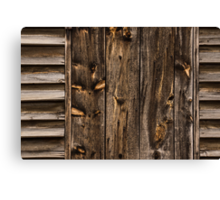 Weathered Wooden Abstracts - 1 Canvas Print