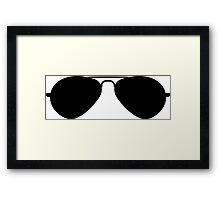 Aviator Sunglasses Framed Print