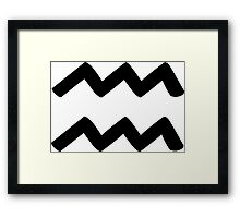 Aquarius - Waterbearer - Astrology Sign Framed Print