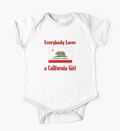 Everybody Loves a California Girl One Piece - Short Sleeve
