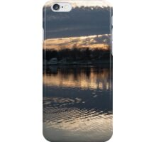 Just Before Sunset - Gray Clouds and Ripples  iPhone Case/Skin