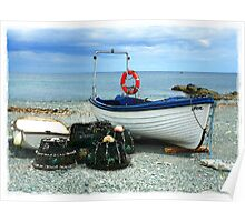 Small Boats with Lobsterpots Poster