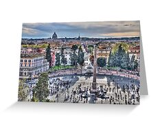 Rome from on High Greeting Card