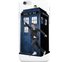 David Tennant and the Tardis iPhone Case/Skin