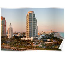 Sunset Towers in Miami Poster