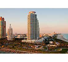 Sunset Towers in Miami Photographic Print