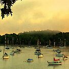 Mallets Bay Panorama by Wayne King