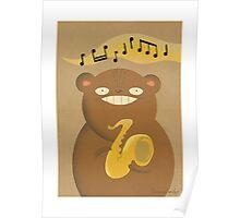 Sax Bear Poster