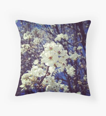 Spring InstaFlower Throw Pillow