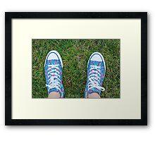 New Kicks Framed Print