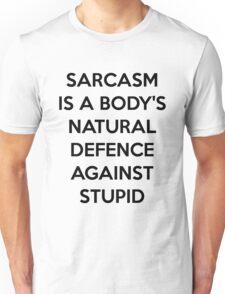 Sarcasm (black version) Unisex T-Shirt