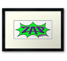 ZAP CIRCUS Bust out Logo Framed Print