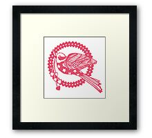 Flying through those hoops. Framed Print