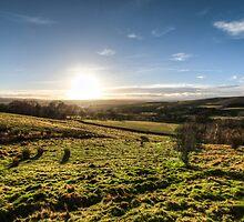 Sunset over Northumberland National Park by pixog