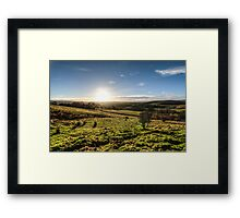 Sunset over Northumberland National Park Framed Print