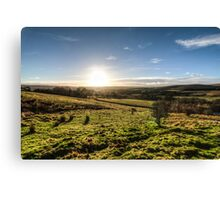 Sunset over Northumberland National Park Canvas Print