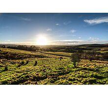 Sunset over Northumberland National Park Photographic Print