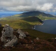 Croaghaun Mountain From Slievemore by Adrian McGlynn