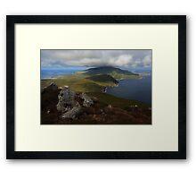 Croaghaun Mountain From Slievemore Framed Print