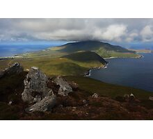 Croaghaun Mountain From Slievemore Photographic Print