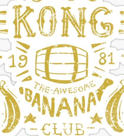 Kong Banana Club Sticker