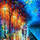 LOVE BY THE LAKE by Leonid  Afremov