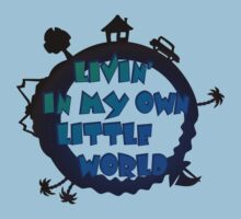 living in my own little world Kids Tee
