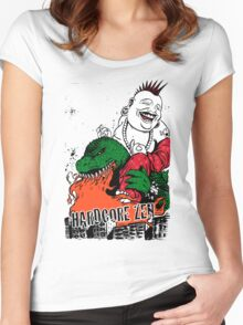 Sit Down & Shut Up Artwork in Color! Women's Fitted Scoop T-Shirt