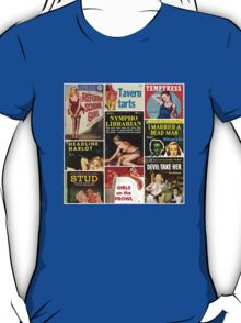 Pulp Fiction Cover Collage T-Shirt