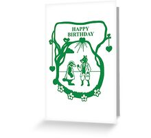 Fox and Badgers Birthday Adventure... Greeting Card