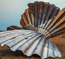 The Scallop, Aldeburgh from the other side by Mark Bangert