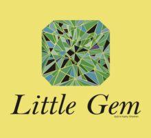 Little Gem, Blue-Green Kids Tee