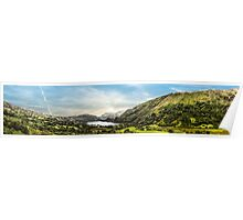 Nant Gwynant panoramic Poster