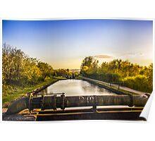 Wigan locks at sunset Poster