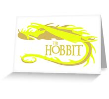 Gold Smaug Greeting Card