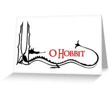 The Hobbit - Smaug Greeting Card