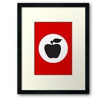 German Apple Front (Front Deutscher Äpfel) Framed Print