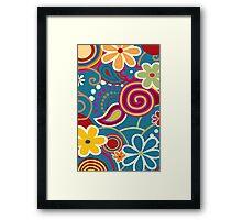 Hip 60's Floral pattern  Framed Print