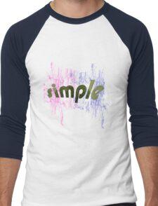 text art Men's Baseball ¾ T-Shirt
