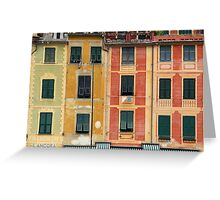 All About Italy. Piece 3 - Portofino Colors Greeting Card