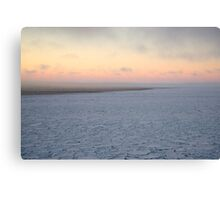 Pancakes in the marginal ice zone Canvas Print