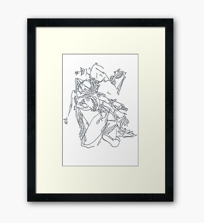 Abstract Female Nude Drawing Framed Print